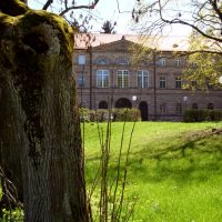 Schlosspark Burgfarrnbach, Blick auf das Schloss, Foto P. Frank.